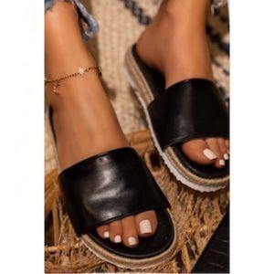 Shoes - !! RESTOCKED !! Espadrille Slides in Black